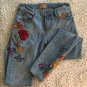 Driftwood skinny jeans marilyn 24 embroidered
